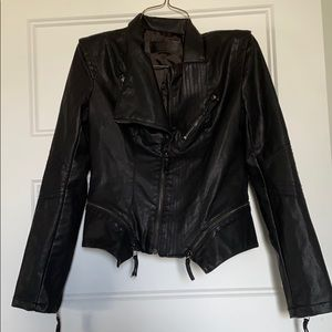 Blank NYC Asymmetrical Faux Leather Jacket